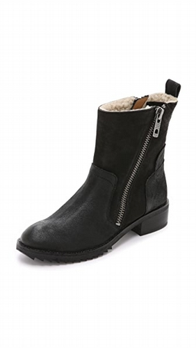 363efc0af7a Dolce Vita Kincaid Shearling Lined Booties - Black