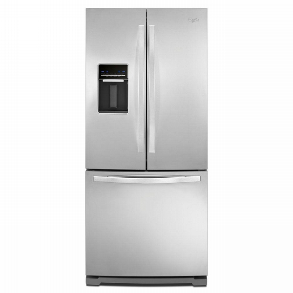 Whirlpool 30 in. W 19.7 cu. ft. French Door Refrigerator in Monochromatic Stainless Steel (Silver)