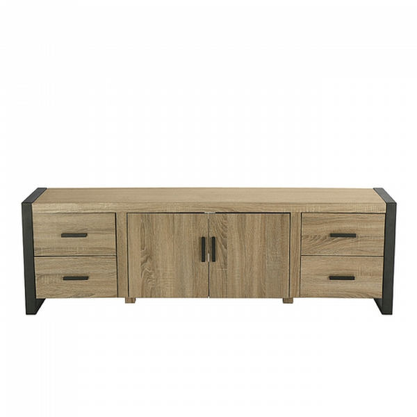 Walker Edison Urban Tv Cabinet For Most Flat Panel Tvs Up To 65 Driftwood