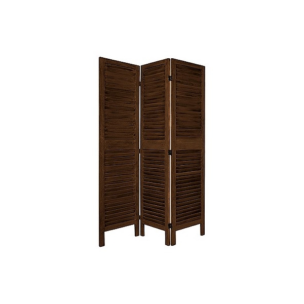 Oriental Furniture 5 1/2 ft. Tall Classic Venetian Room Divider - Burnt Brown (4 Panel), Adult Unisex